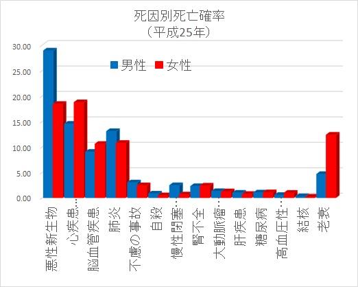 死因グラフ2013