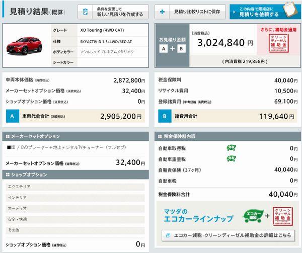 Mazda CX3 Cost